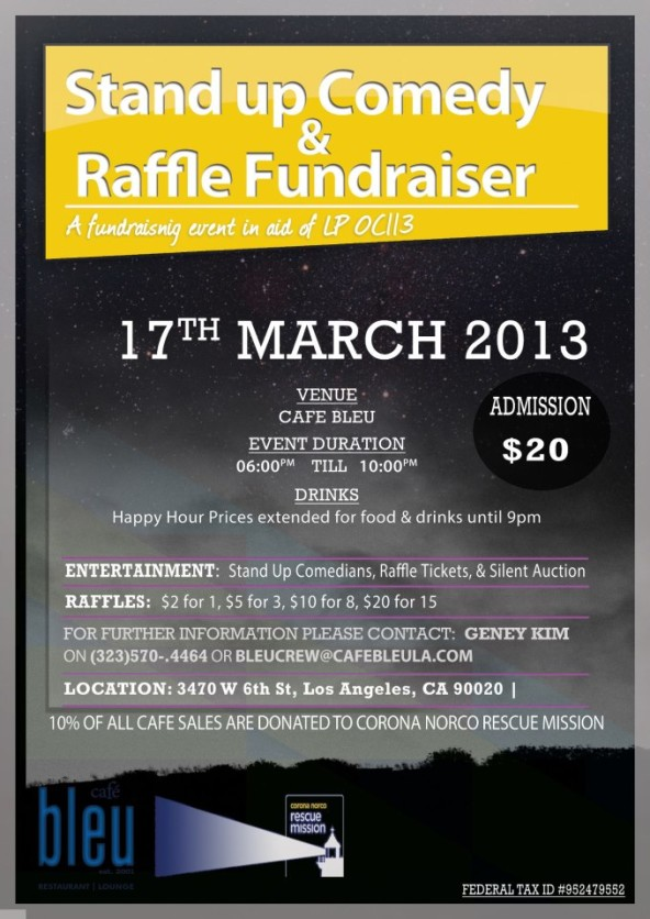 Stand Up Comedy & Raffle Fundraiser